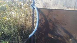 雨水タンクの設置