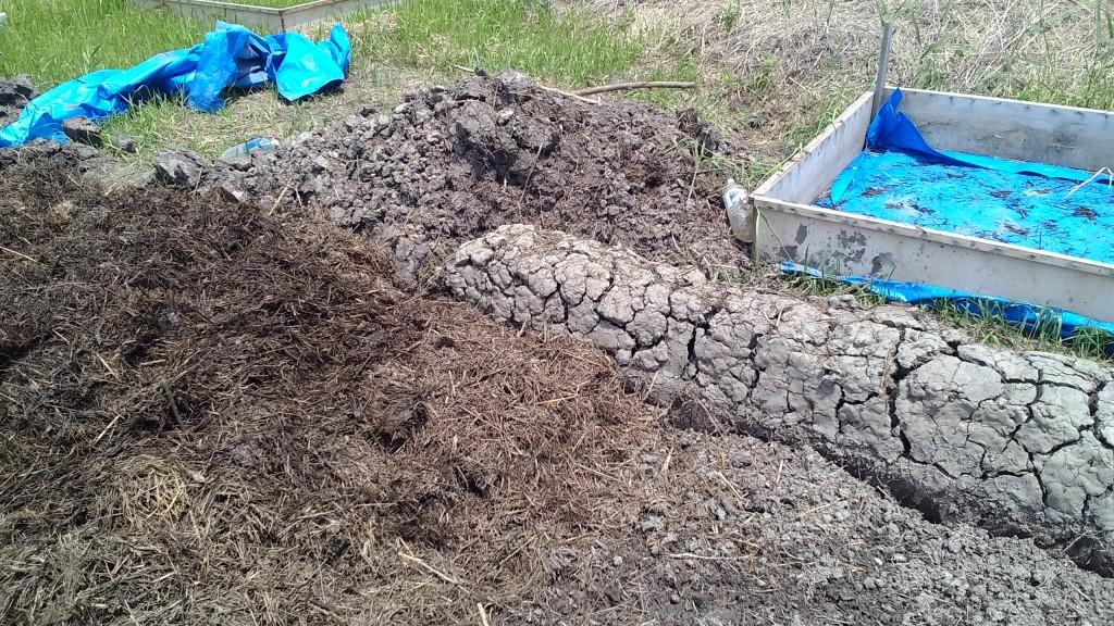 堆肥の切り替えし