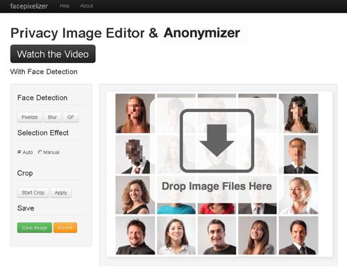モザイク処理が簡単! anonymizer