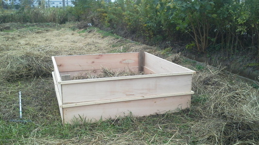 堆肥枠作り